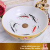 Goldfish Pattern Washing Ceramic Sinks for Bathroom Accessories
