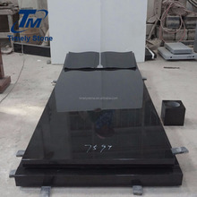 Funeral Black Granite Stone Grave Monument Slab In Bible Headstone