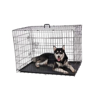 Foldable metal iron pet dog cage for sale cheap