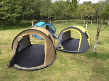 New fashion 2017 outdoor camping automatic open tent for 3 person inflatable cube camping tent