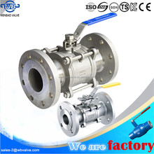 (WB-85) Silicon sol Investment Casting Flanged 3-PC DIN Ball Valve PN40