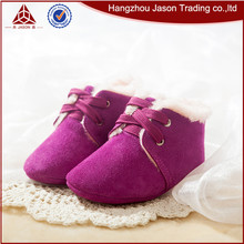 Wholesale pink newborn soft leather baby shoe