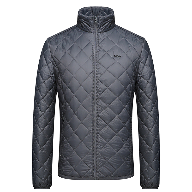 High quality men autumn opening winter 100% nylon quilting light padding jacket