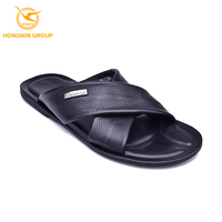 shoes wholesale import fashion man genuine leather wholesale slipper men sandals slipper