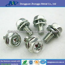 china Phillips pan head screws with washer attached