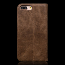 Retro Genuine Leather Wallet Case for iPhone 8 Plus
