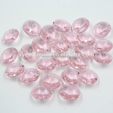 Round shape pink color window doors design chandelier lighting Hanging crystal chandelier parts