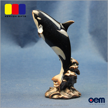 Wholesale Sea Animal Sculpture Resin Garden Killer Whale Animal Statues