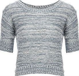 Ladies twisted color jumper