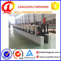 metal color steel rain gutter roof valley gutter making roll forming machine