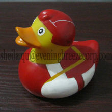 wholesale 8cm sport bath duck, hockey rubber duck