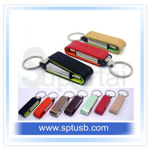 Fashion leather flash 1 gb flash drive bulk cheap from China supplier.