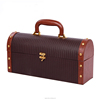 High-grade PU Leather Wine Gift Box Wine Travel Case Whisky Case
