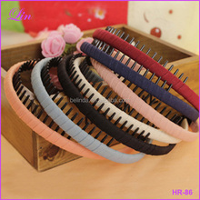 New Fashion Multicolor Headband with Teeth Practical Cloth Hair Band for Women & Girls Hairband