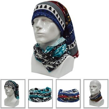 Wholesale Cheap Polyester Seamless Custom Scport Neck Scarf Head Bandana Fleece