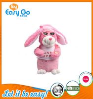 high quality customized production cute rabbit bunny with music box toy plush toy