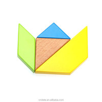 educational wooden toy children toy big size color wooden tangram
