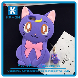 [kayoh] Cute Cat Cartoon Silicone Case for iphone 6 protective case