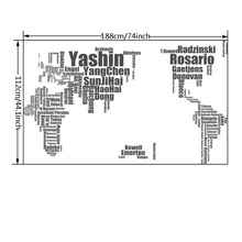Home Decor World Map Wall Sticker Football Celebrity Personality Design Stickers For Boy Bedroom Decoration Stickers