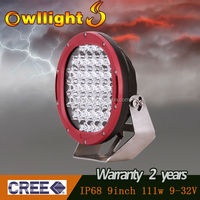 "Guangzhou auto accessories 12V 9"" 111W led worklight LED Tractor 4x4 LED Spot Light LED car extra light"