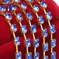 ss10 2.7-2.8mm silver Single row Rhinestone cup chain for Bags,Shoes,Garment Decoration