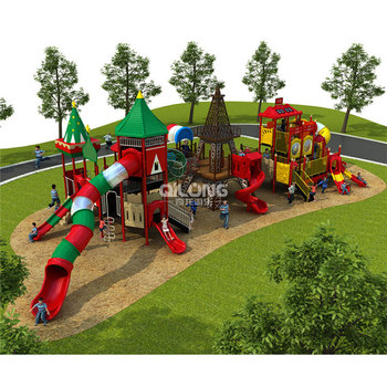 Special Design Safety Kids Playground Outdoor With Plastic Slide