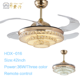 New model fancy design crystal decorative 42 inch 36W LED light ceiling fan with remote 10 years warranty