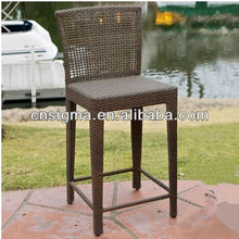 2015 All Weather Outdoor Furniture Fashion PE Rattan Bar Chair
