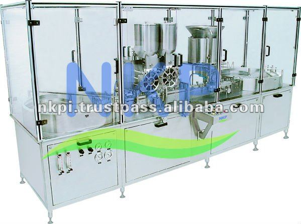 Injectable Dry Powder Filling with Rubber Stoppering Mahine