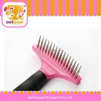16 teeth combing pet steel brush for dog petlover