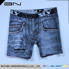 Wholesale latest design cheap boxer short for men,mature loose boxer for men