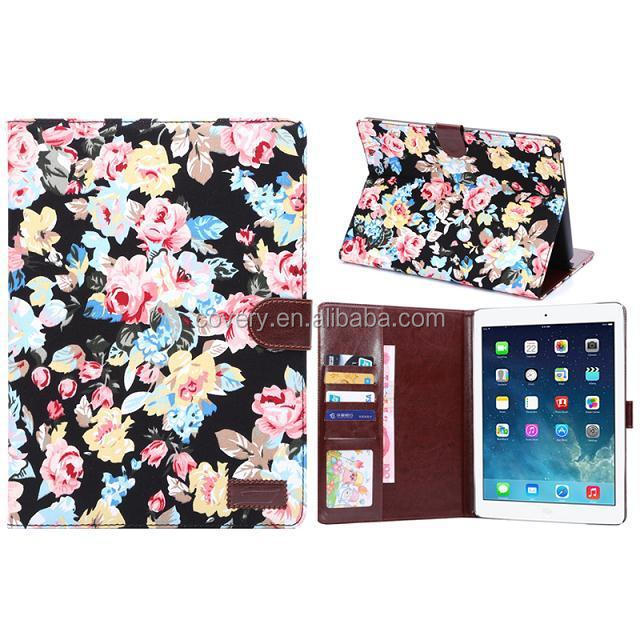 For iPad Air 2 Leather Wallet Pouch