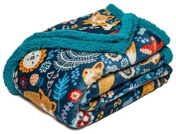 100% poly Digital Sublimation Printed Fleece Sherpa Blankets And Throws