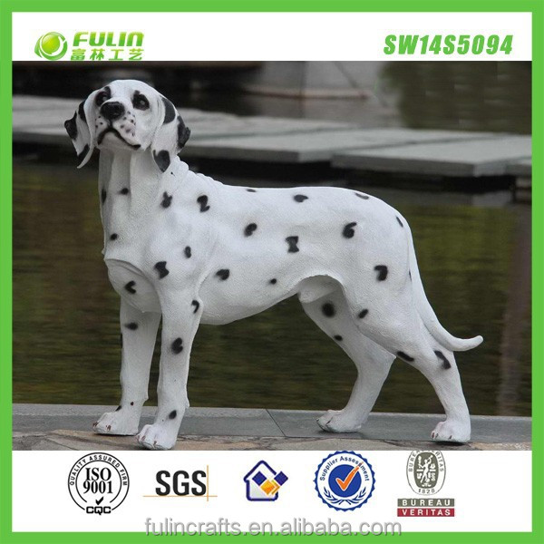 Dog polyresin animal statues figurines, Resin animal craft