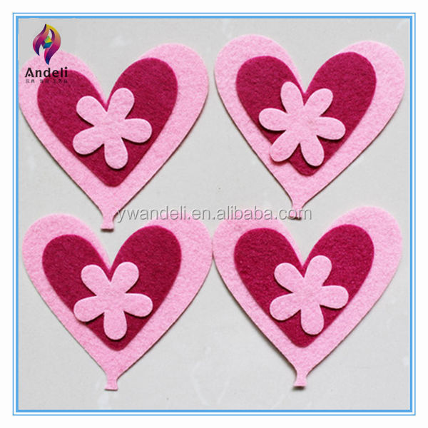 2014 new design non woven fabric cartoon love sticker