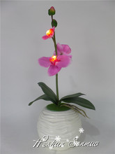 Wholesale natural look artificial flower with LED lights flower led