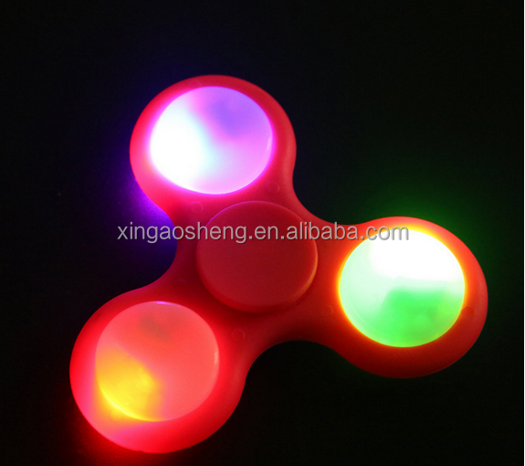 Newest 608 bearing desk toy spinner fidget spinner LED light spinner