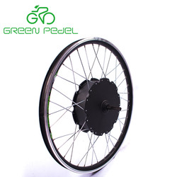 Greenpedel heavy duty brushless gearless 2000w electric bike hub motor for conversion
