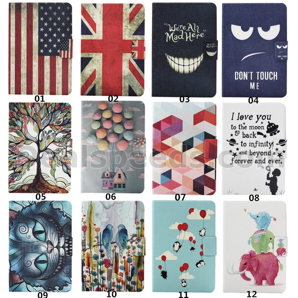Colorful Tree PU Leather Stand Case Cover for Kindle Fire HDX 7 Inch Case