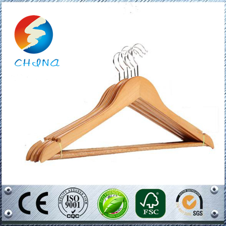 Professional garment skirt hangers material rubber paint hanger good quality display beautiful pants wood hanger available