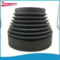 Rubber molded customized neoprene rubber bellows with flange