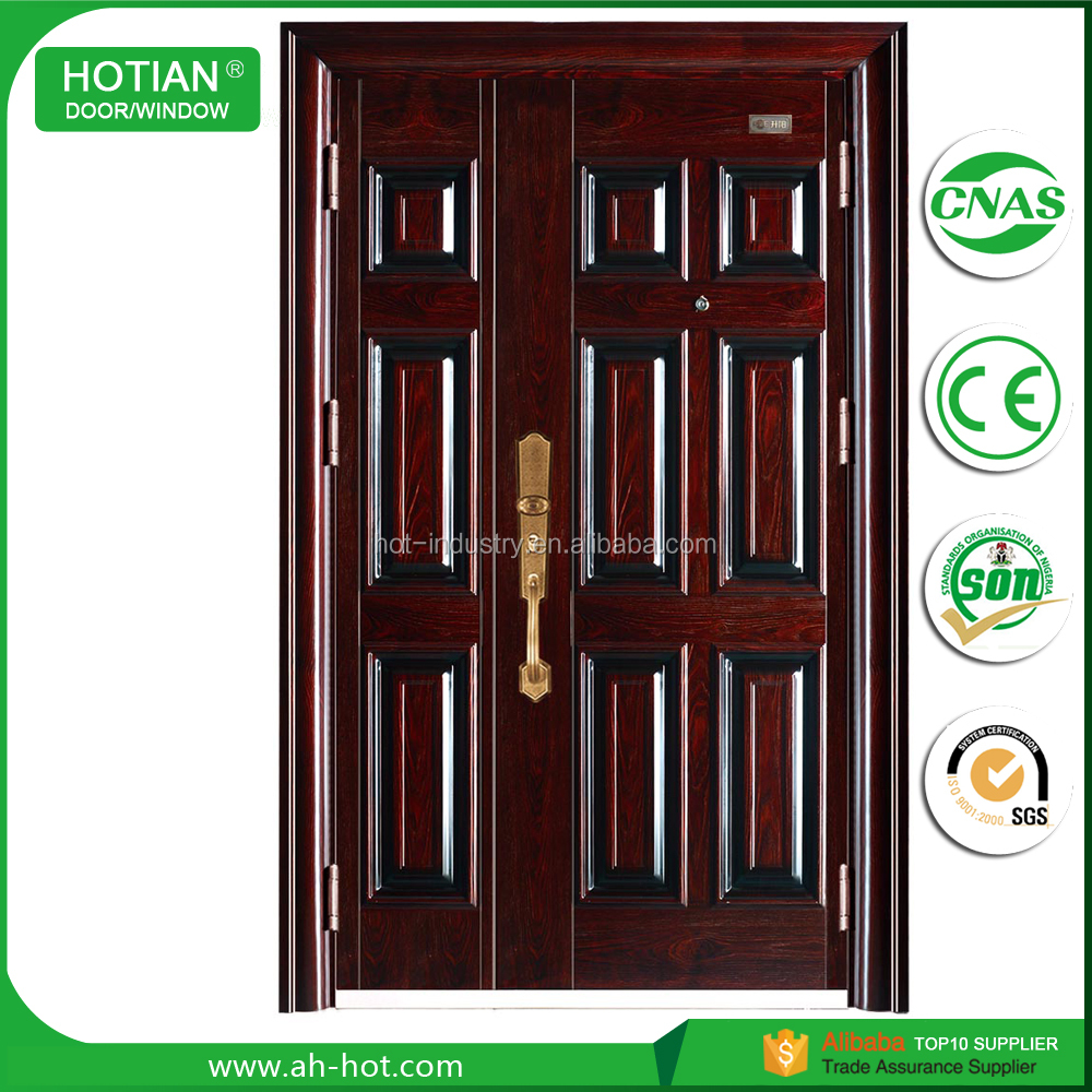 Alibaba China Golden Suppliers 8 Panel Exterior Security Steel One And Half Doors Mom And Son Doors