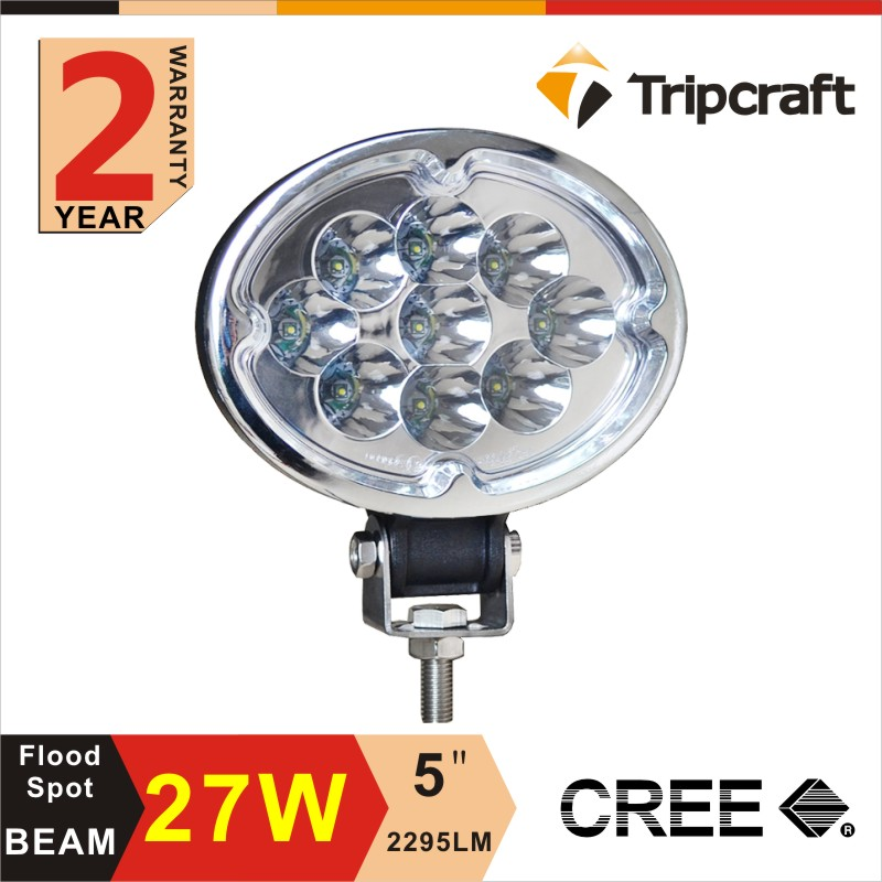 "27w LED Work Light IP67 High Quality IP67 LED Lighting For 4X4 Accessories Truck SUV ATV 5"" Offroad LED Worklight"