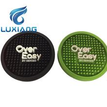 Heat Resistant Water Proof silicone coaster, soft pvc cup mat for tea & coffee ,embossed logo PVC cup coaster
