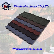 Nature color stone chips coated metal tile roof/building material for house