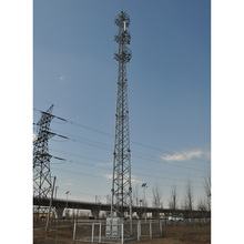 3 legged telecommunication steel lattice tower