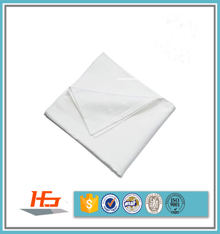Wholesale 200TC Cheap White Flat Polyester Cotton Bed Sheets