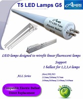 T5 LED lamps designed to retrofit linear fluorescent lamps G5; T5 Retrofit led lamps