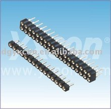 China factory 2.54mm pitch tin plated brass Round female header
