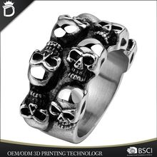 Personality spikes 316L stainless steel finger men ring model